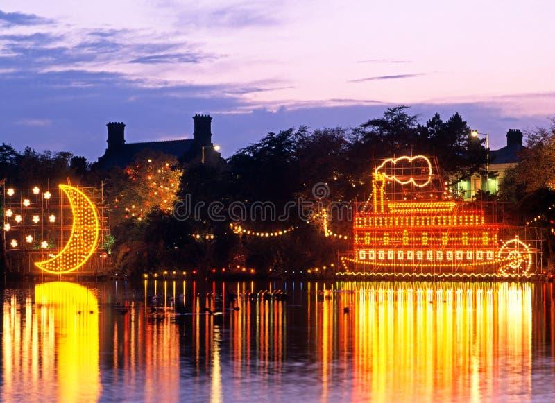 Mississippi riverboat, Walsall, England. arkivfoto