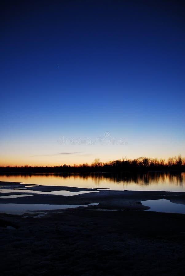 mississippi solnedgång arkivbild