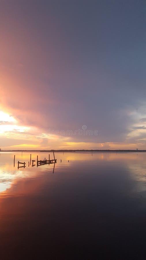 Mississippi-Sonnenuntergang stockbilder