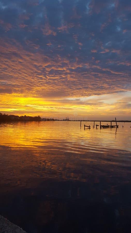 Mississippi-Sonnenuntergang stockfoto