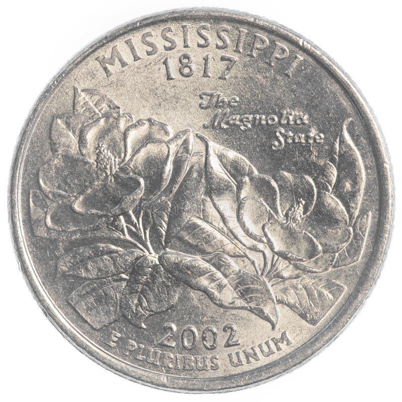 Mississippi-Staatsviertel lizenzfreie stockfotos