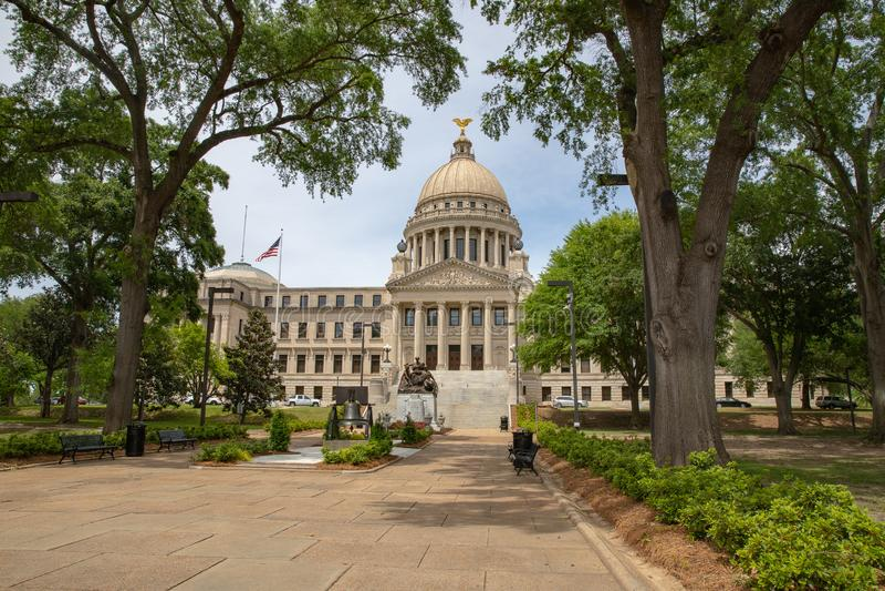 Mississippi stanu Capitol budynek, Jackson, MS obraz stock