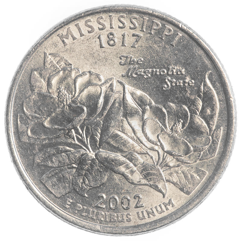 Mississippi state quarter royalty free stock photos