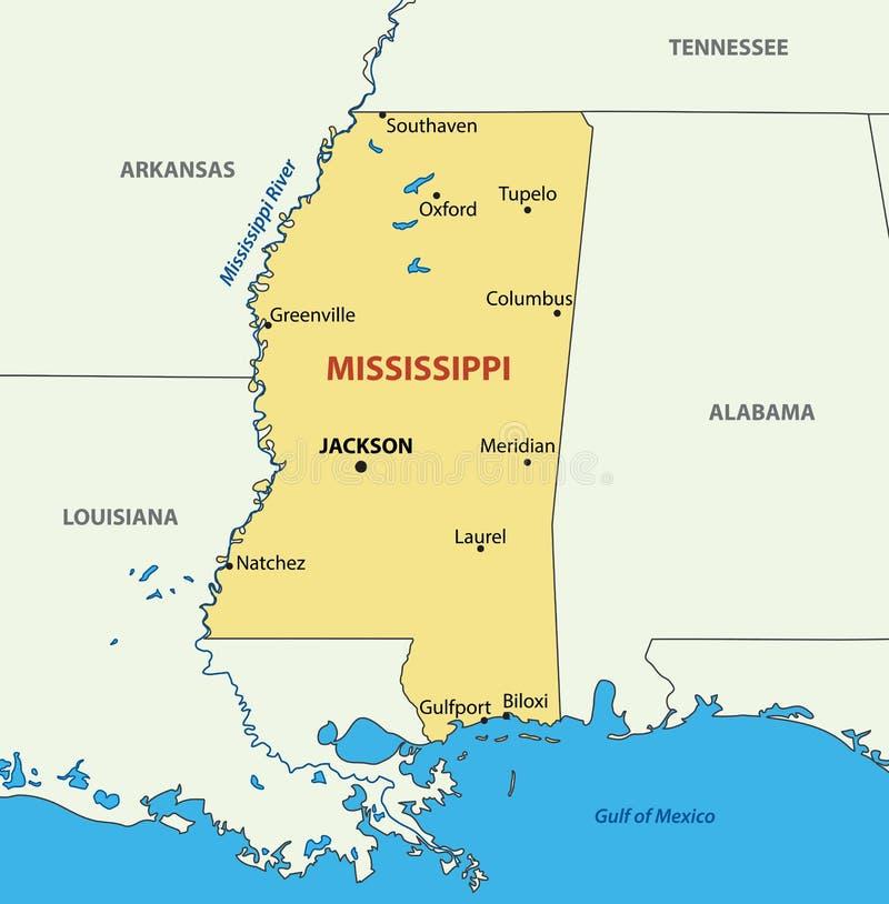Mississippi River Map Stock Illustrations 213 Mississippi River