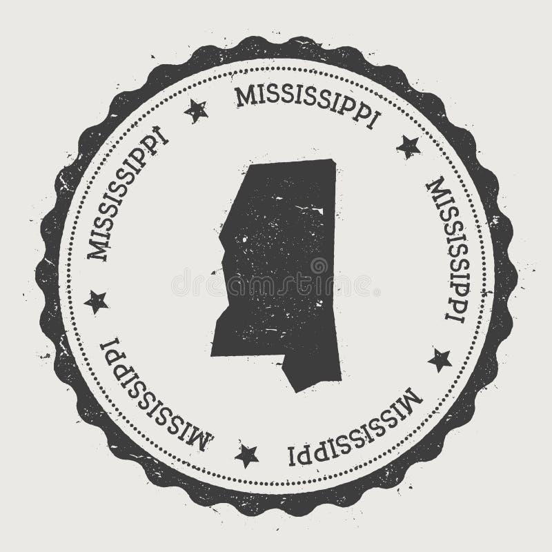 Mississippi vektorklistermärke vektor illustrationer