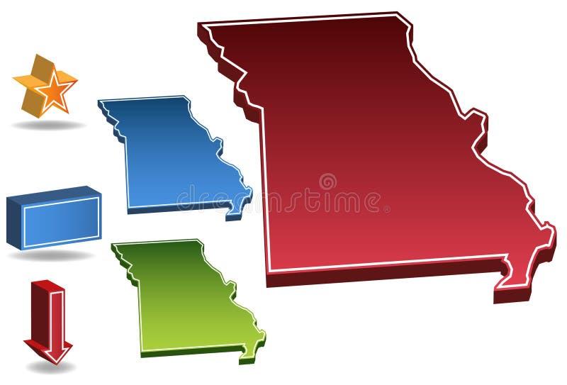 Missouri 3D ilustración del vector