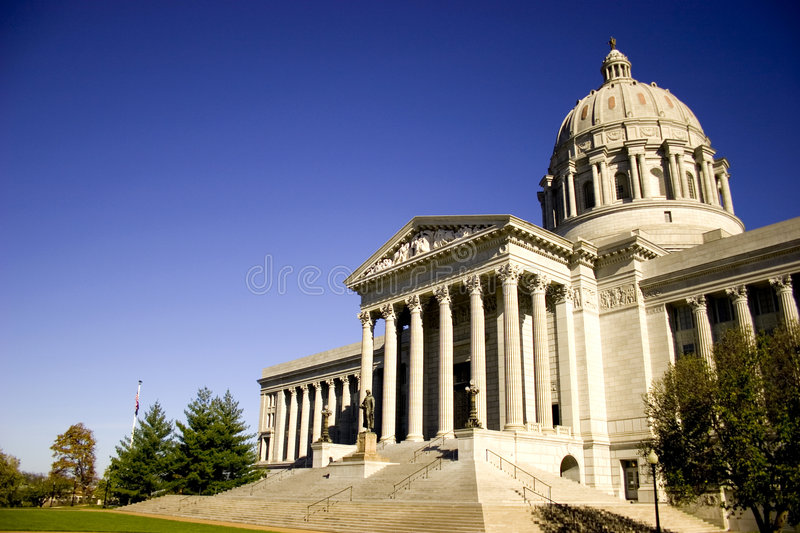 Missouri Capital. The capital building located in Jefferson City, Missouri stock image