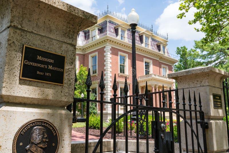 Missouri Governor`s Mansion stock photo