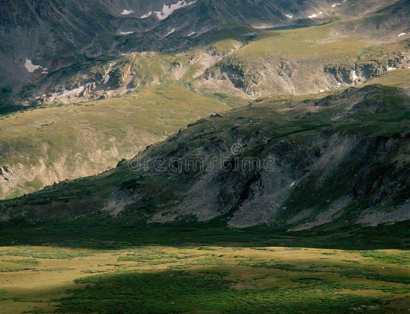 Missouri Gulch od Elkhead przepustki, Uczelniani szczyty pustkowie, Kolorado obrazy stock