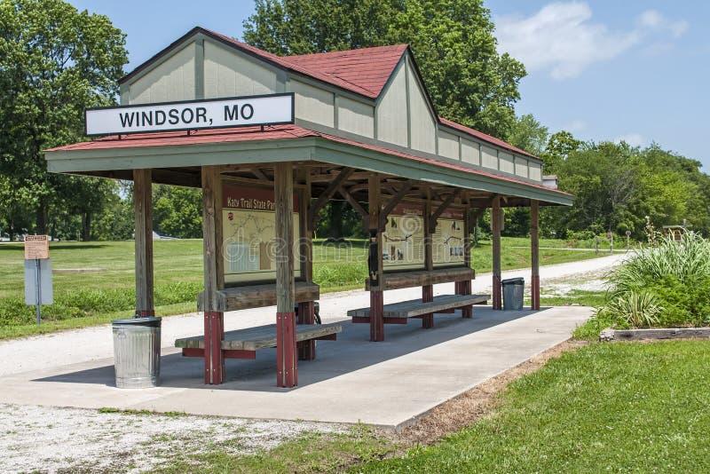 Missouri Katy Trail parkerar arkivbild