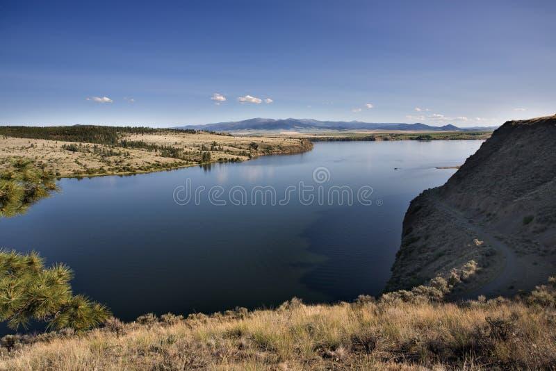 Missouri River near Helena Montana. Arid landscape royalty free stock photography