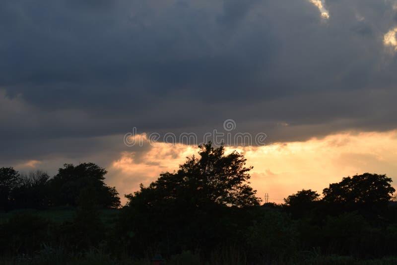 Missouri solnedgång royaltyfria bilder