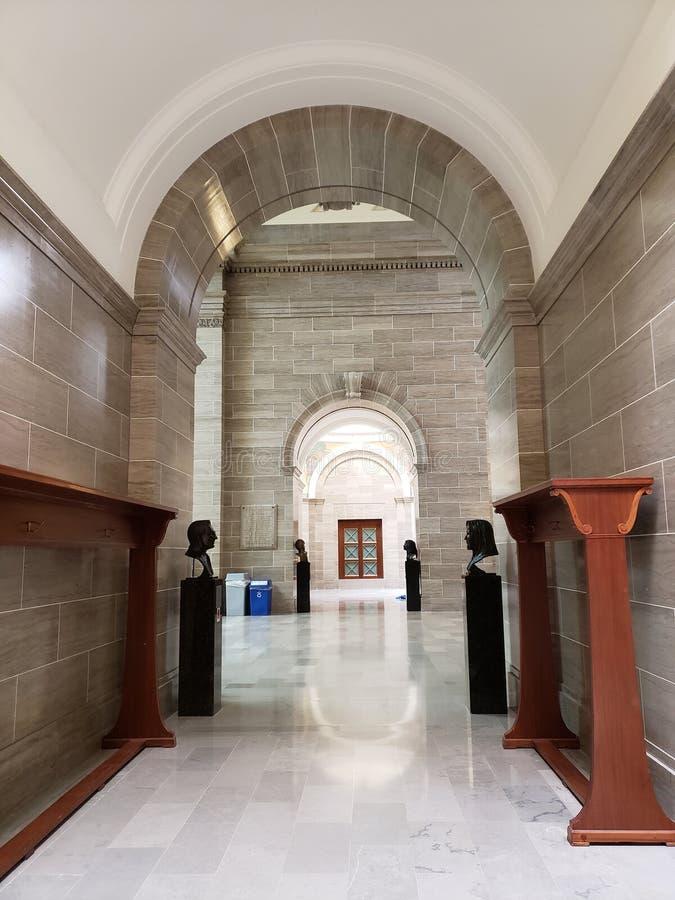 Missouri stanu capitol wśrodku widoku Jefferson city MO zdjęcia stock