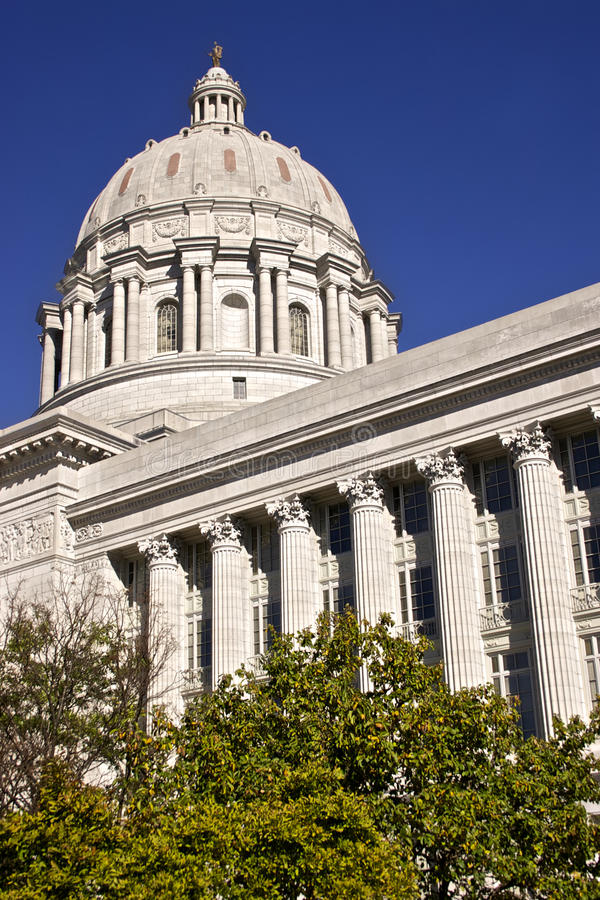 Missouri State Capital in Jeff City. Missouri State Capital building located in Jefferson City, Missouri stock photos