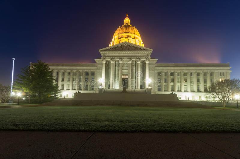 Missouri State Capital in Jefferson City, Missouri. A view of the Capital building in Jefferson City, Missouri at early morning dawn royalty free stock photography