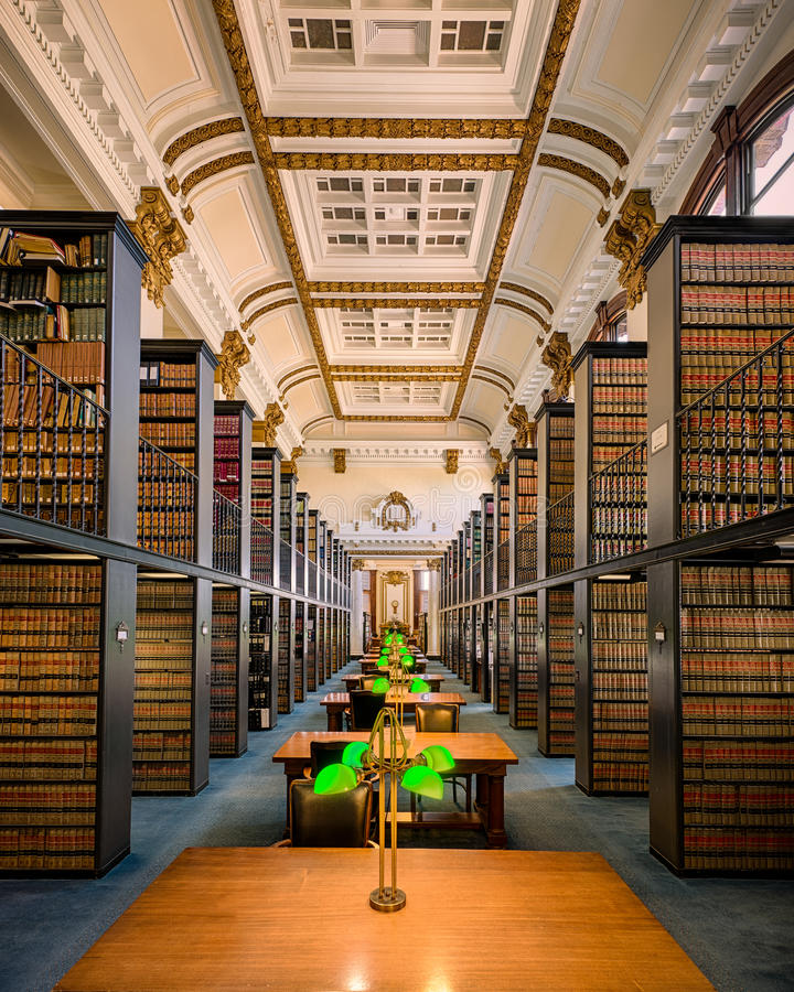Missouri State Law Library. Law library in the Missouri Supreme Court building in Jefferson City, Missouri royalty free stock image