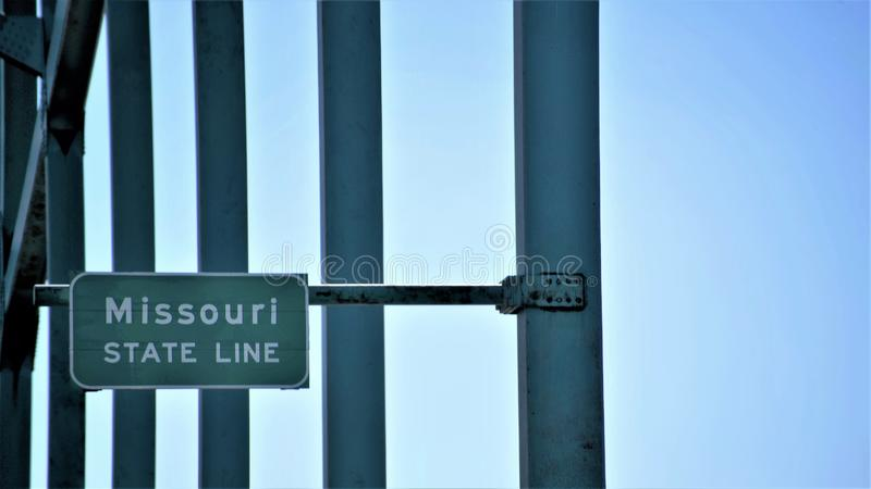 Missouri State Line. Missouri is a state in the Midwestern United States. With over six million residents, it is the 18th-most populous state of the Union. The royalty free stock photography