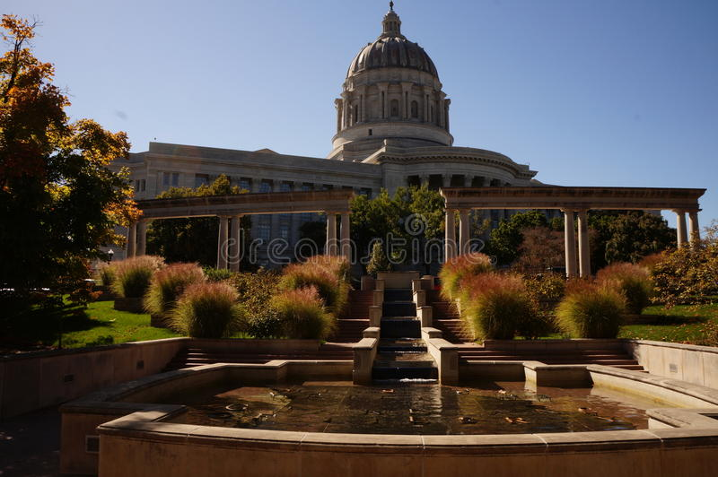 Missouri stolica kraju przy półmrokiem zdjęcia royalty free