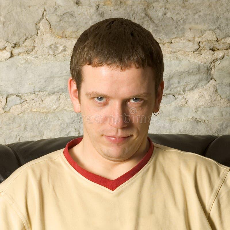 Misstrauisches Portrait lizenzfreies stockbild