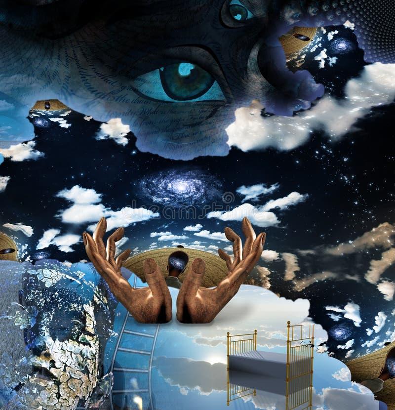Mistério surreal ilustração stock