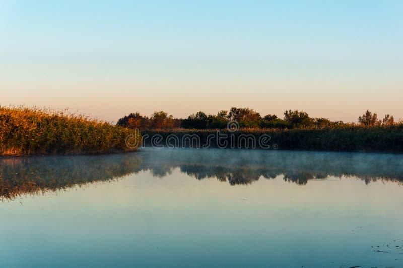 Mist över sjön i otta arkivfoton