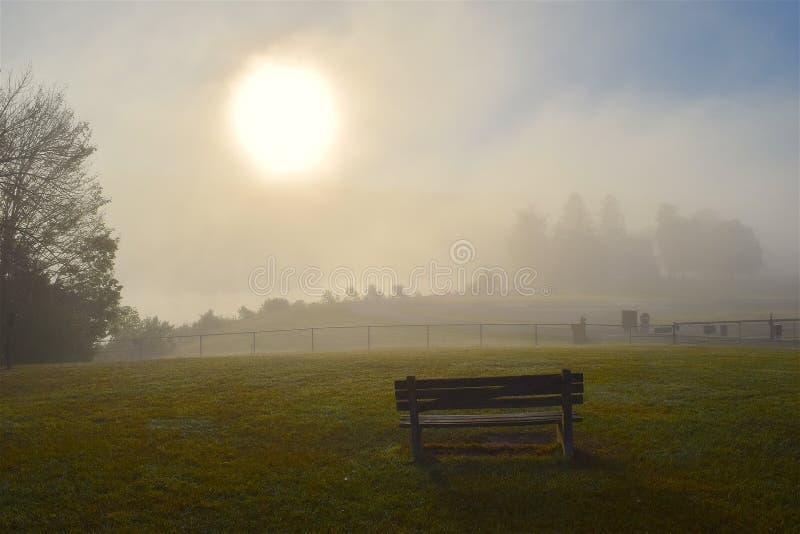 Mist, Fog, Field, Morning stock photos