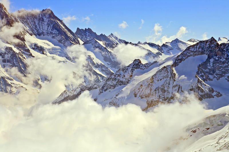 Mist at Jungfraujoch, part of Swiss Alps royalty free stock images