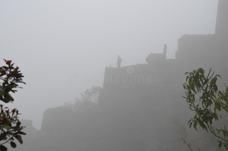 Mist Machu Picchu royalty free stock images