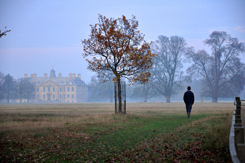 Mist at the manor royalty free stock photo