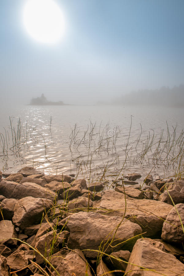 Mist Over Lake Royalty Free Stock Photos