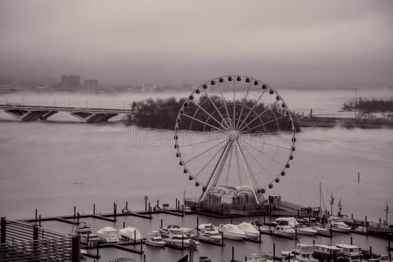 Mist over Potomac bij Nationale Haven, Maryland