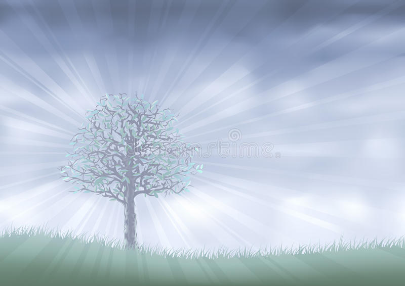 Download Mist realm stock vector. Illustration of hill, fantasy - 9866270