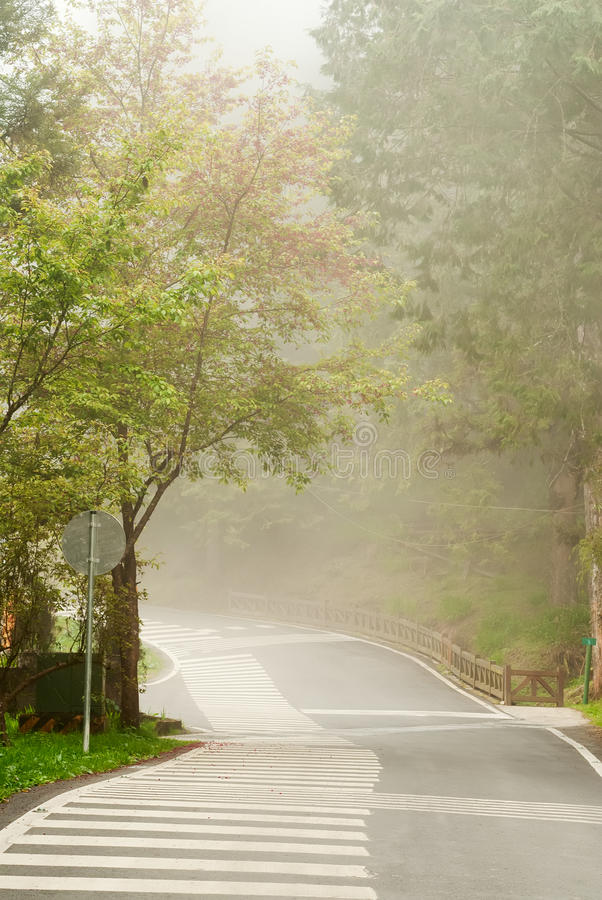 Download Mist On Road Stock Image - Image: 19832121