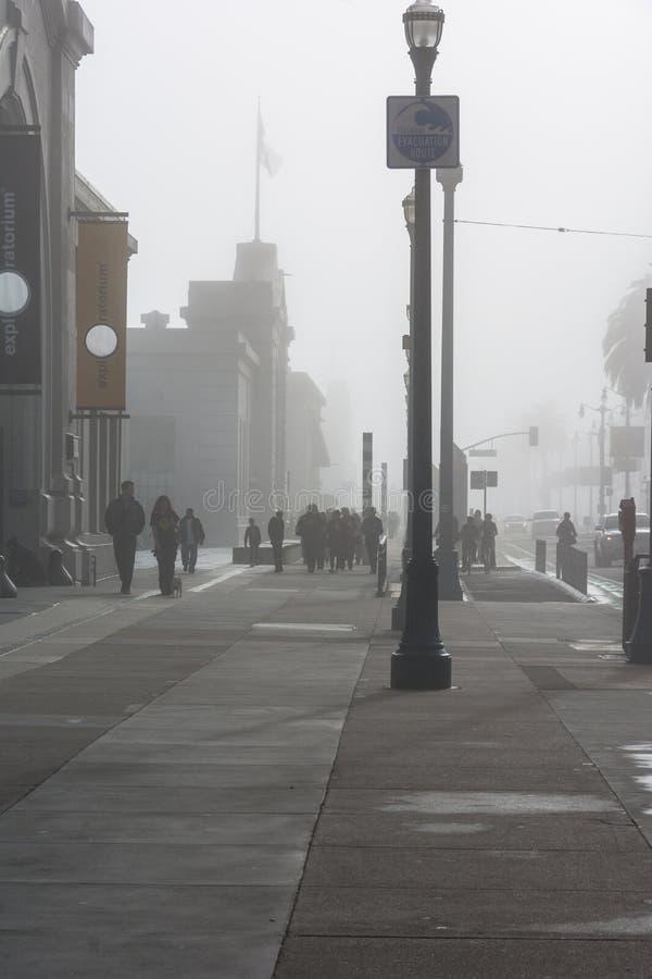 Mist in San Francisco, Californië royalty-vrije stock afbeeldingen