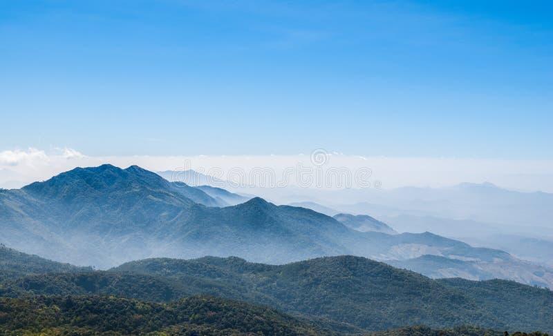 Mist at Tropical Mountain stock photos