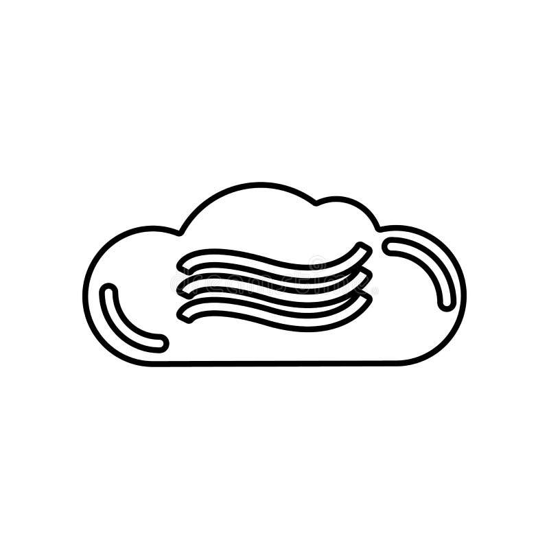 mist whethre pictogram Element van of voor mobiel concept en webtoepassingenpictogram Overzicht, dun lijnpictogram voor websiteon vector illustratie