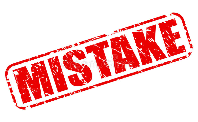 Mistake red stamp text stock v...