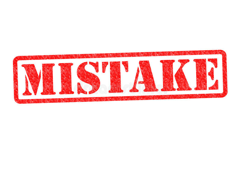 MISTAKE. Rubber Stamp over a white background royalty free stock photos