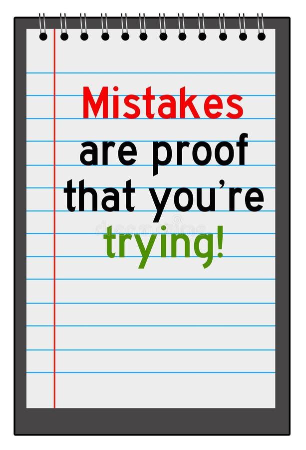 Mistakes stock illustration