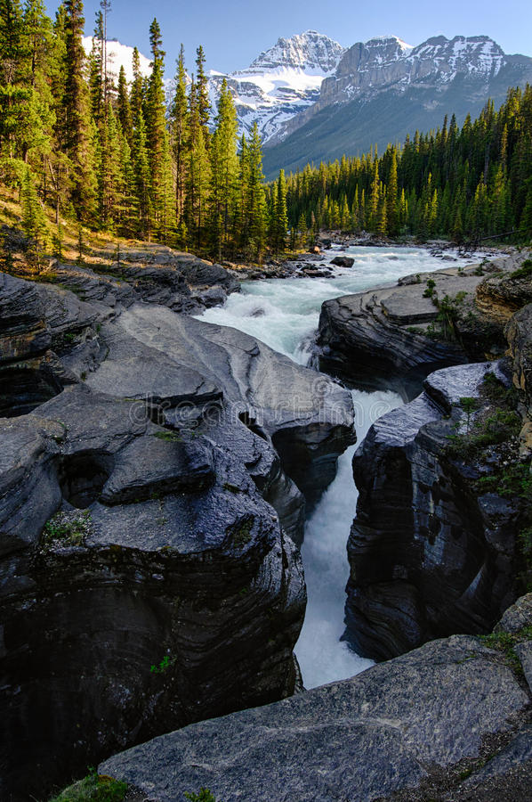 Isolated Canyon Canada National Park Summer stock images