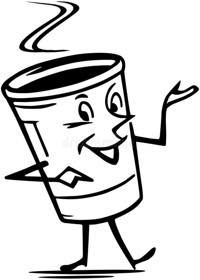 Mister kawa royalty ilustracja