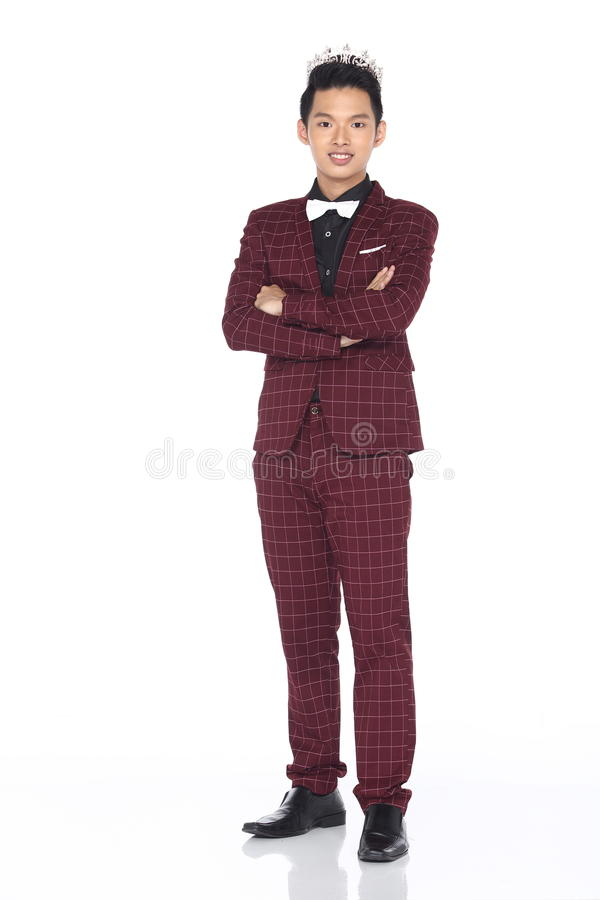 Mister Pageant Contest In Evening Ball Suit With Diamond Crown Stock Image Image 97282179