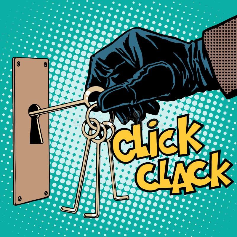 Misterio del secreto del crimen del ladrón del hurto del robo stock de ilustración