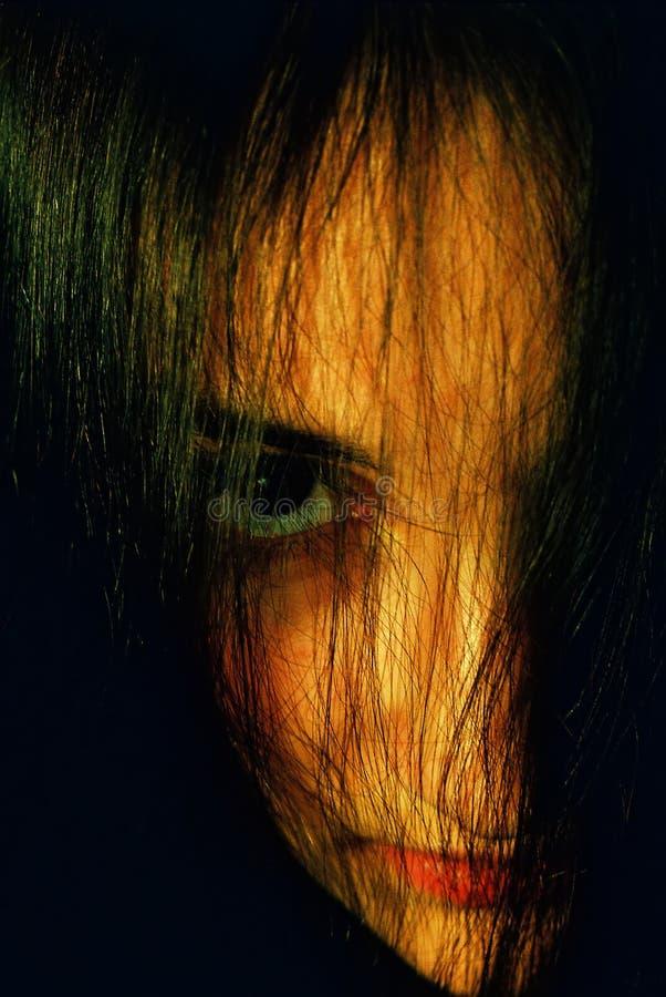 Download Misterios Portret Dziewczyny Obraz Stock - Obraz: 42677