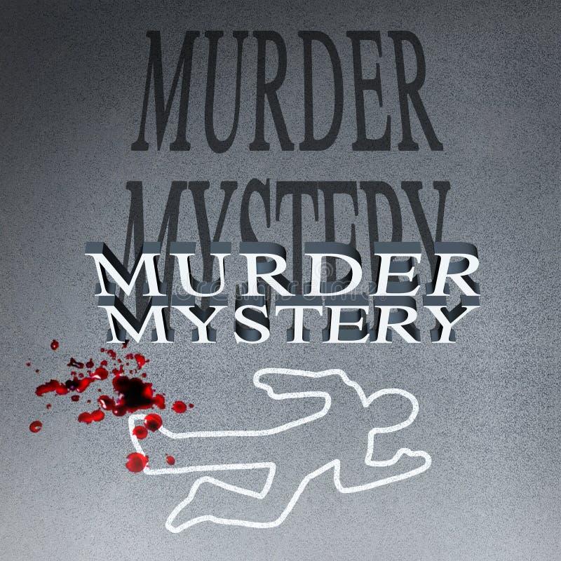 Misterioso asesinato ilustración del vector