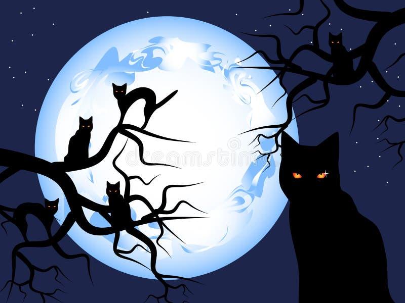 Misterioso-gatos ilustração do vetor