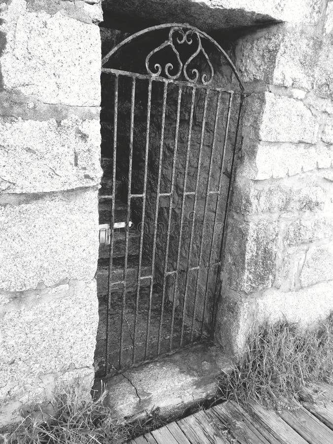 Misterious door stock photo