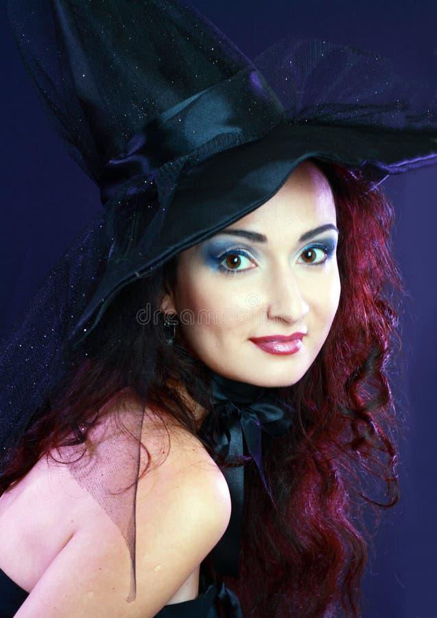 Misteriouse piękna kobieta fotografia royalty free