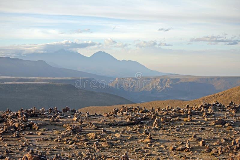 Misti Volcano, Anden, Peru stockbilder