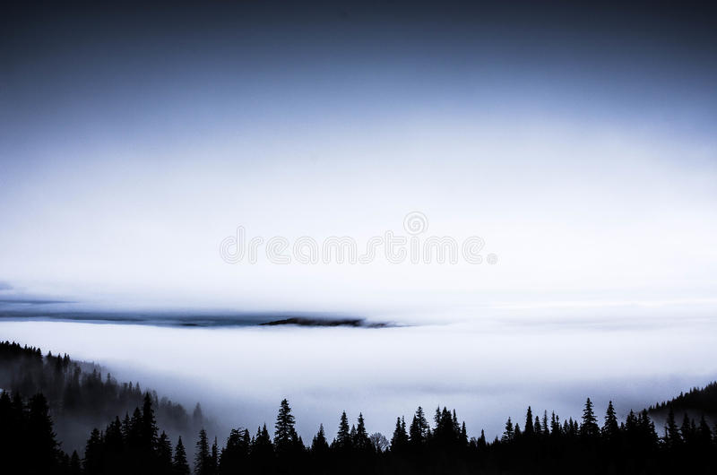 Mistic. Hiking in Fagaras Mountains on a beautiful weather royalty free stock images